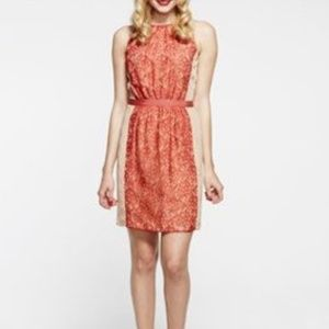 Anthropologie Paper Crown Sheath Dress with Lace